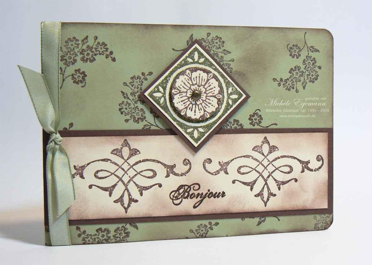 Grußkartenmäppchen mit Carte Postale