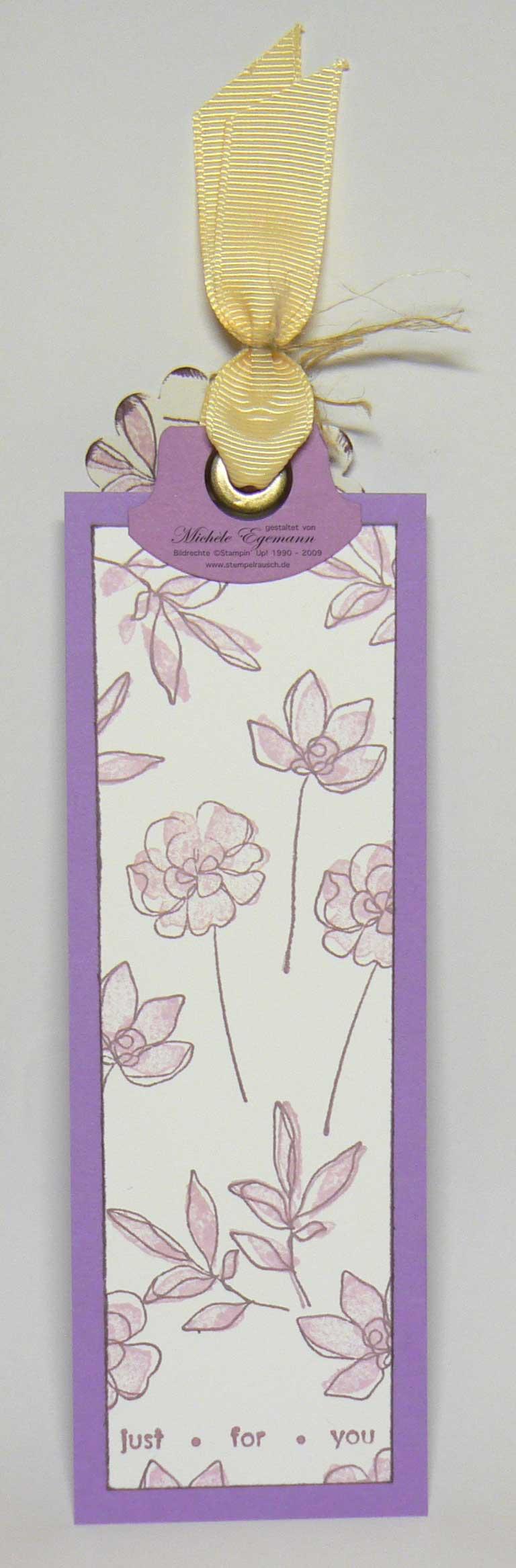 Lesezeichen mit Botanischen Blumen