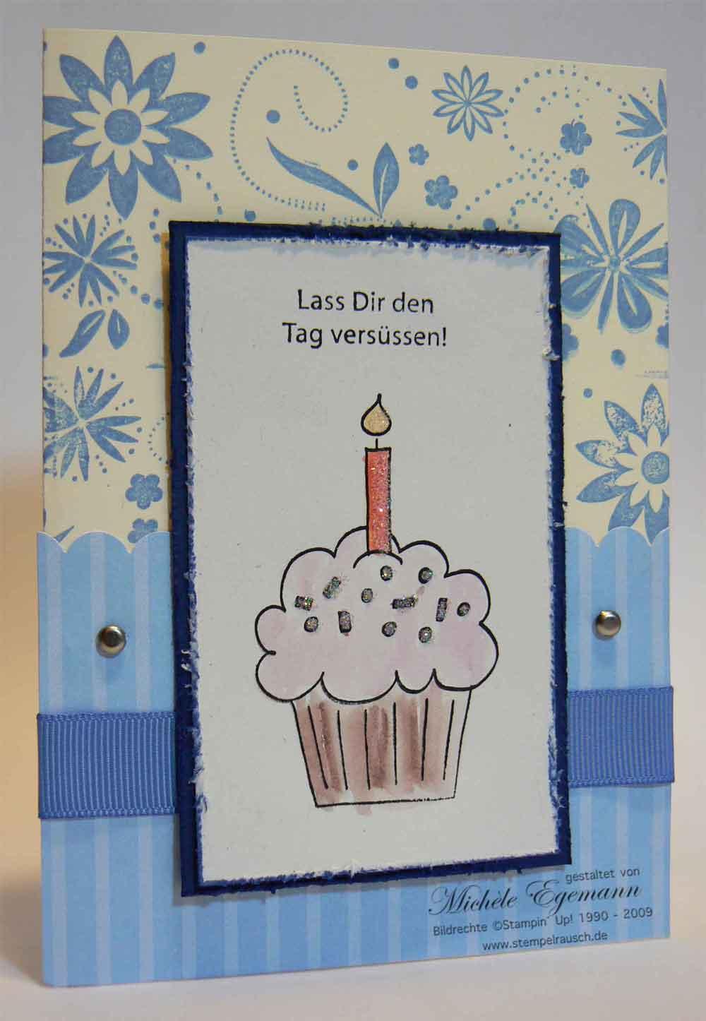 Glückwunschkarte mit Umschlag und Naschitüte