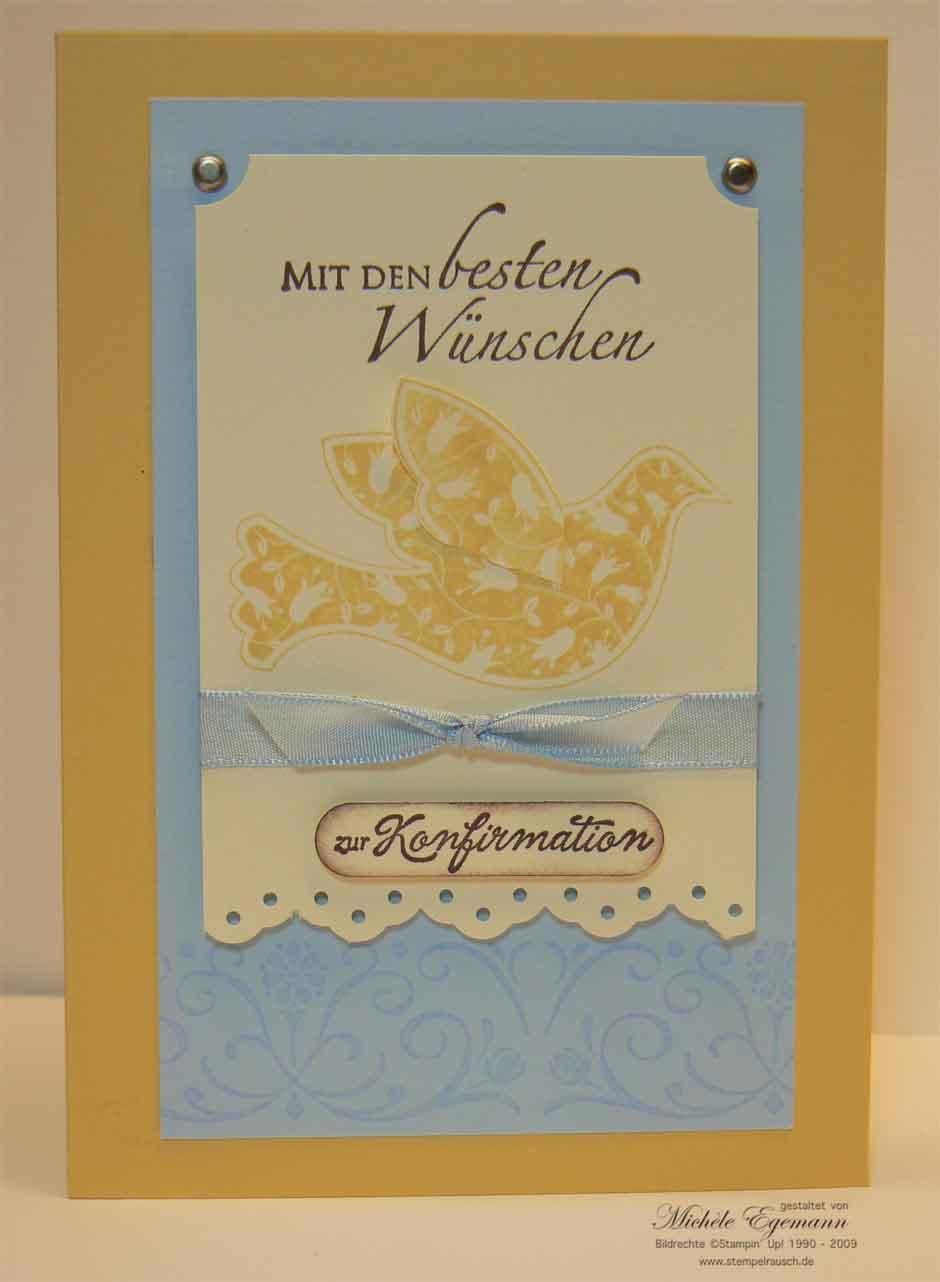 Konfirmationskarte mit den Segenswünschen
