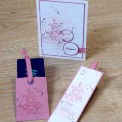 Geburtstagskarte, Lesezeichen und Gutscheinverpackung mit Timeless Textures