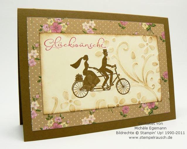 Grusskarte zur Hochzeit