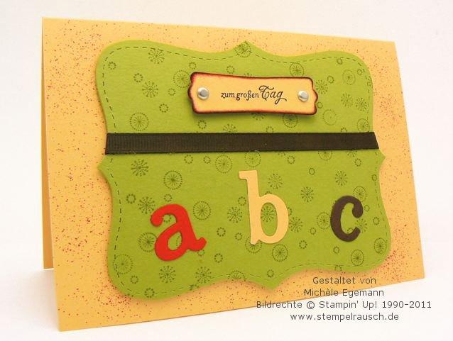 Einschulungskarte mit der Top Note und dem Junior ABC