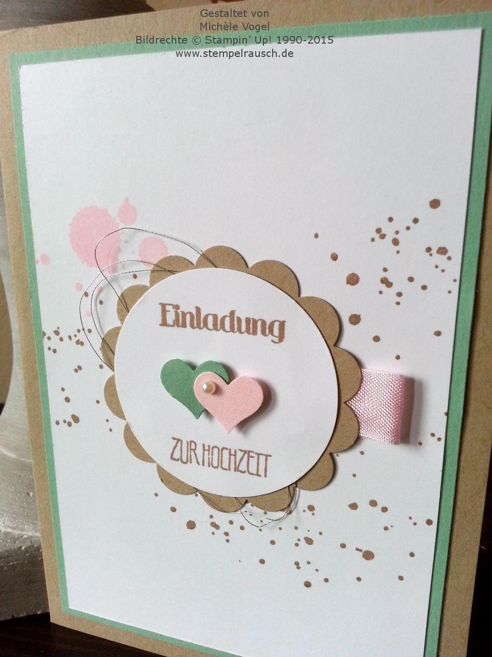 Stampin Up Einladungskarte Zur Hochzeit Stempelset Eins Für  Alles Und Gorgeous Grunge 2