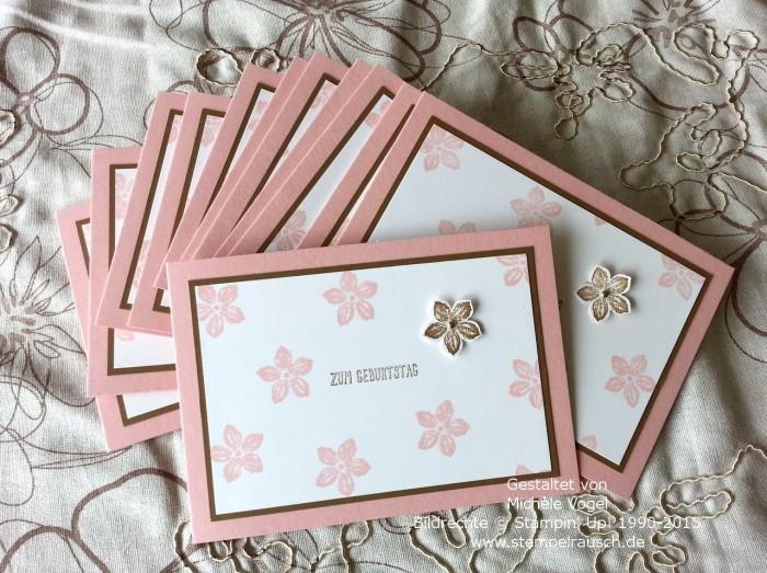 Stampin Up-Geburtstagskarte mit Stempelset Petite Petals und Eins für alles