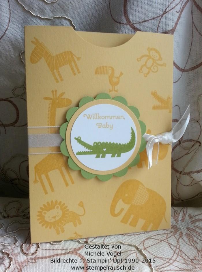 Gutscheinverpackung-für-Shoppinggutscheine-Geschenkkarten-Zoo Babies-Krokodil-Safrangelb-1