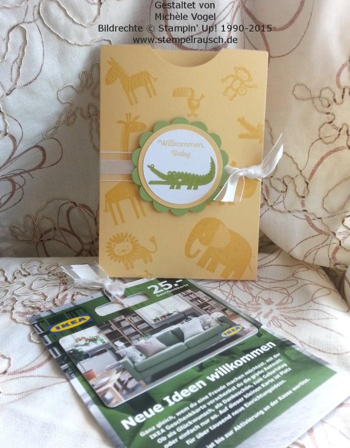 Gutscheinverpackung-für-Shoppinggutscheine-Geschenkkarten-Zoo Babies-Krokodil-Safrangelb-2