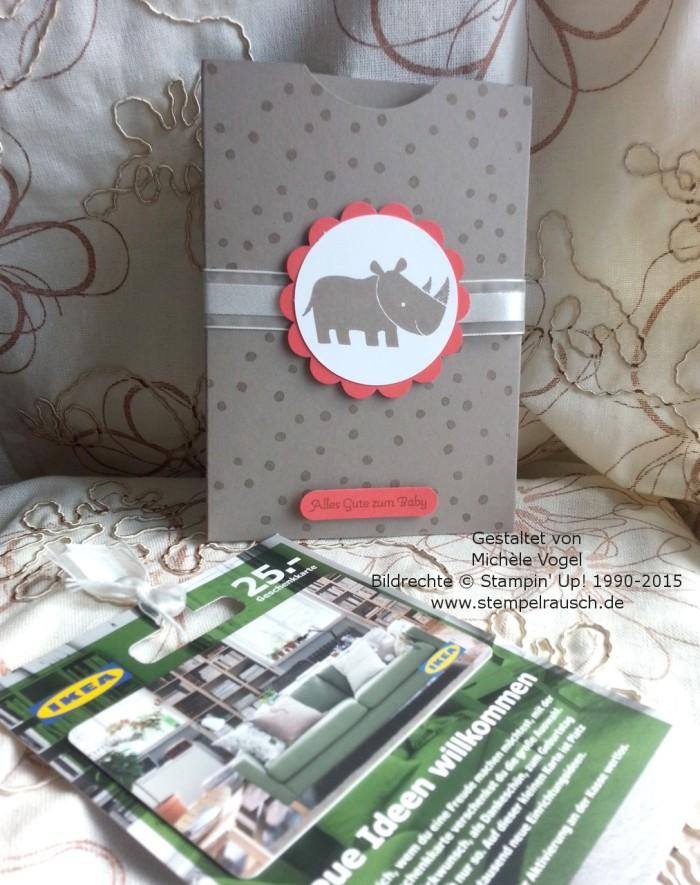 Gutscheinverpackung-für-Shoppinggutscheine-Geschenkkarten-Zoo Babies-Taupe-Nashorn-2