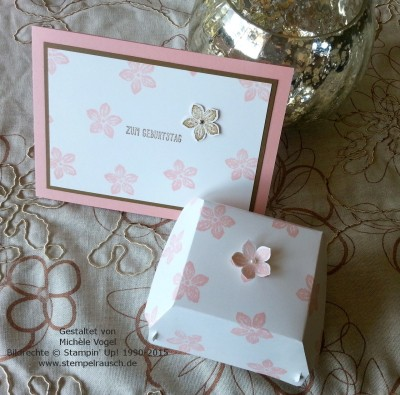 Hamburger-Schachtel mit Petite Petals