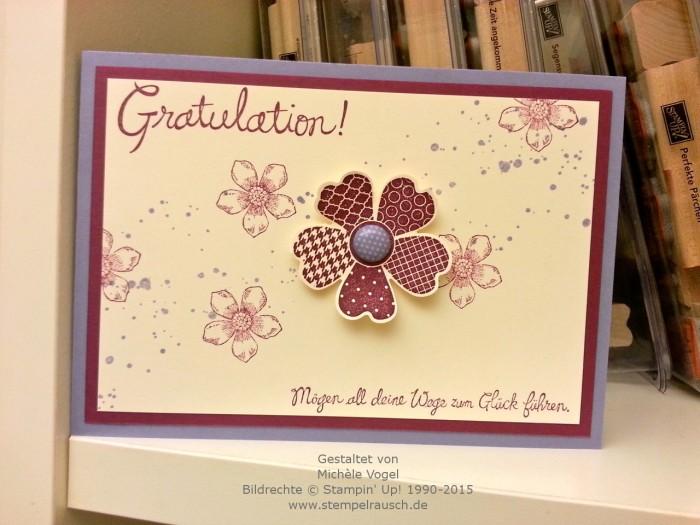 Stampin Up-Glückwunschkarte-Flower Shop-Petite Petals-Gorgeous Grunge