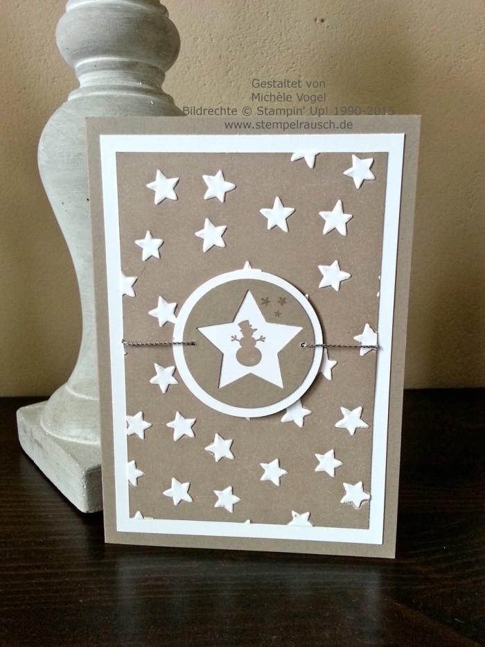 Stampin Up_Sternenkarte_Weihnachtskarte_Kling Gloeckchen_Praegeform Glueckssterne_1