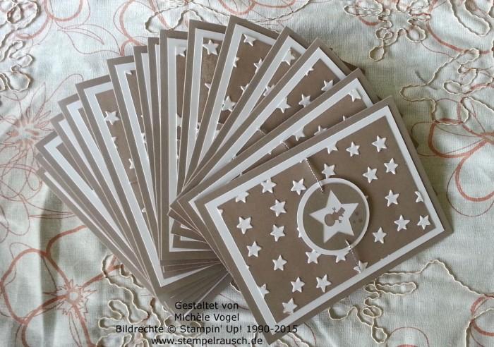 Stampin Up_Sternenkarte_Weihnachtskarte_Kling Gloeckchen_Praegeform Glueckssterne_2