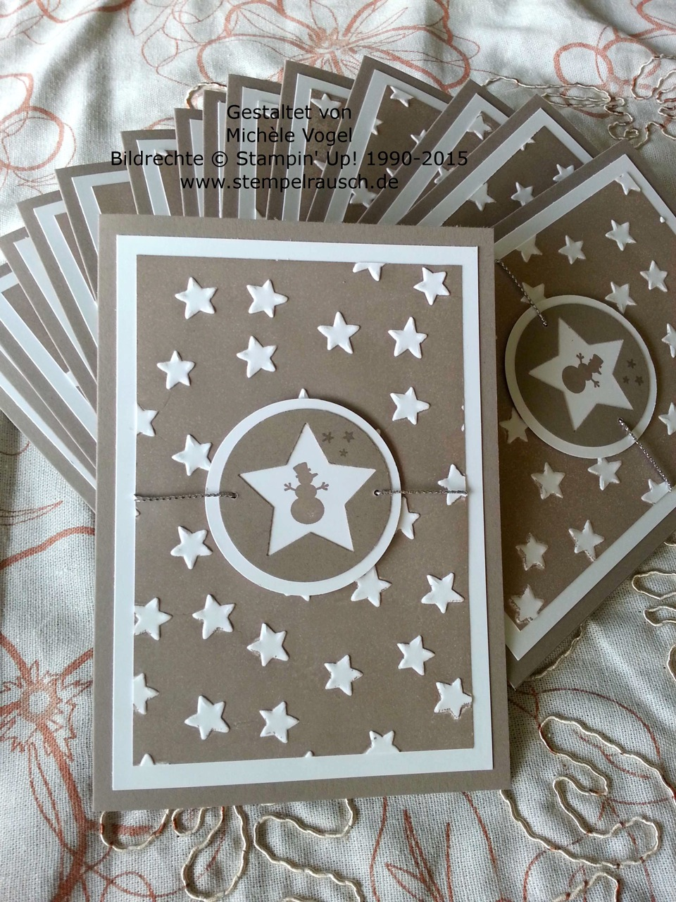 Stampin' Up! Sternenkarte mit Kling, Glöckchen