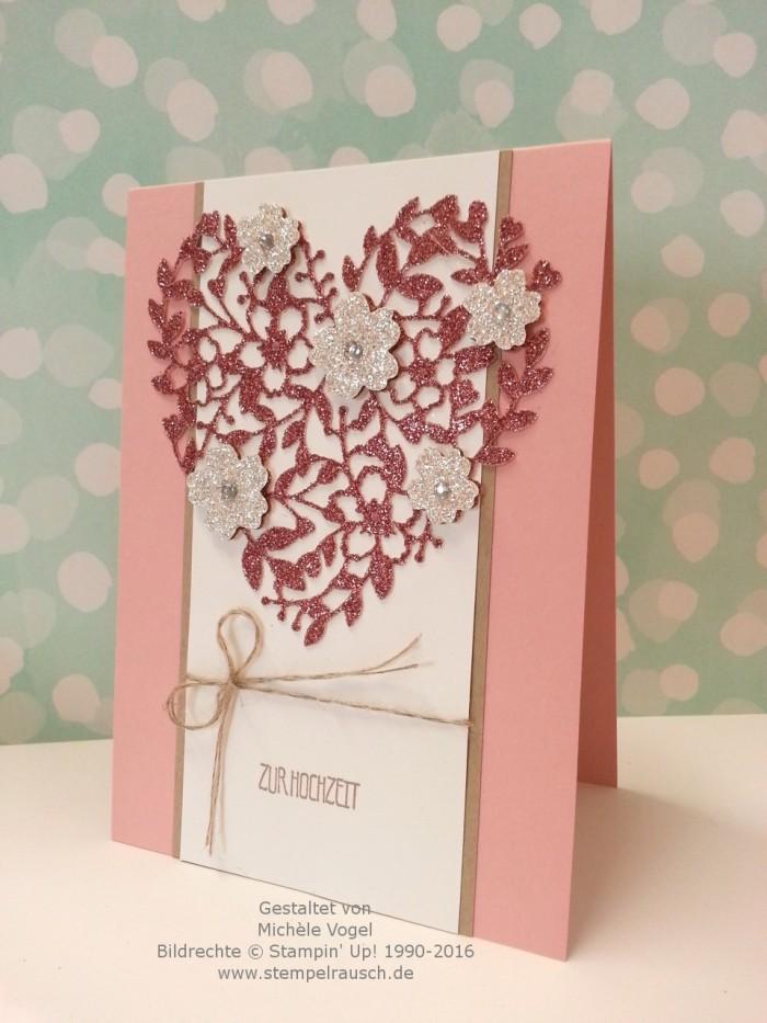 Stampin Up_Hochzeitskarte_Thinlits Formen_Blühendes Herz_Stempelset_Eins für alles