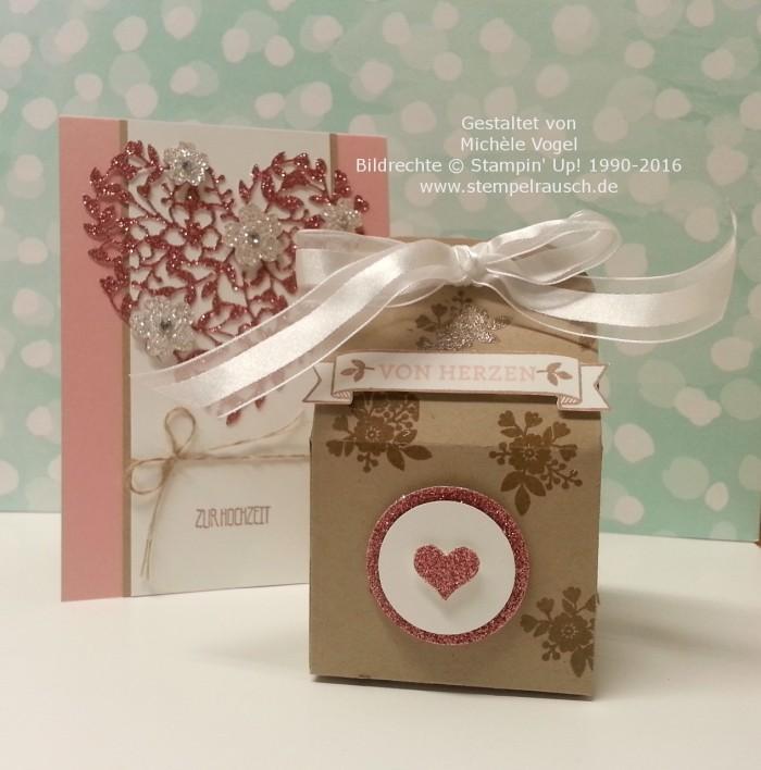 Stampin Up_Hochzeitskarte_Thinlits Formen_Blühendes Herz_Stempelset_Eins für alles_Thinlits Leckereien-Box
