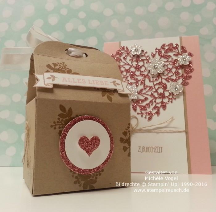 Stampin Up_Hochzeitskarte_Thinlits Formen_Blühendes Herz_Stempelset_Eins für alles_Thinlits Leckereien-Box_
