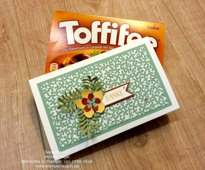 Stampin Up_Toffifee_Verpackung_Schokoladenverpackung_Framelits_Pflanzen-Potpourri_Designerpapier_Botanischer Garten_Stempelset_Grußelemente_2