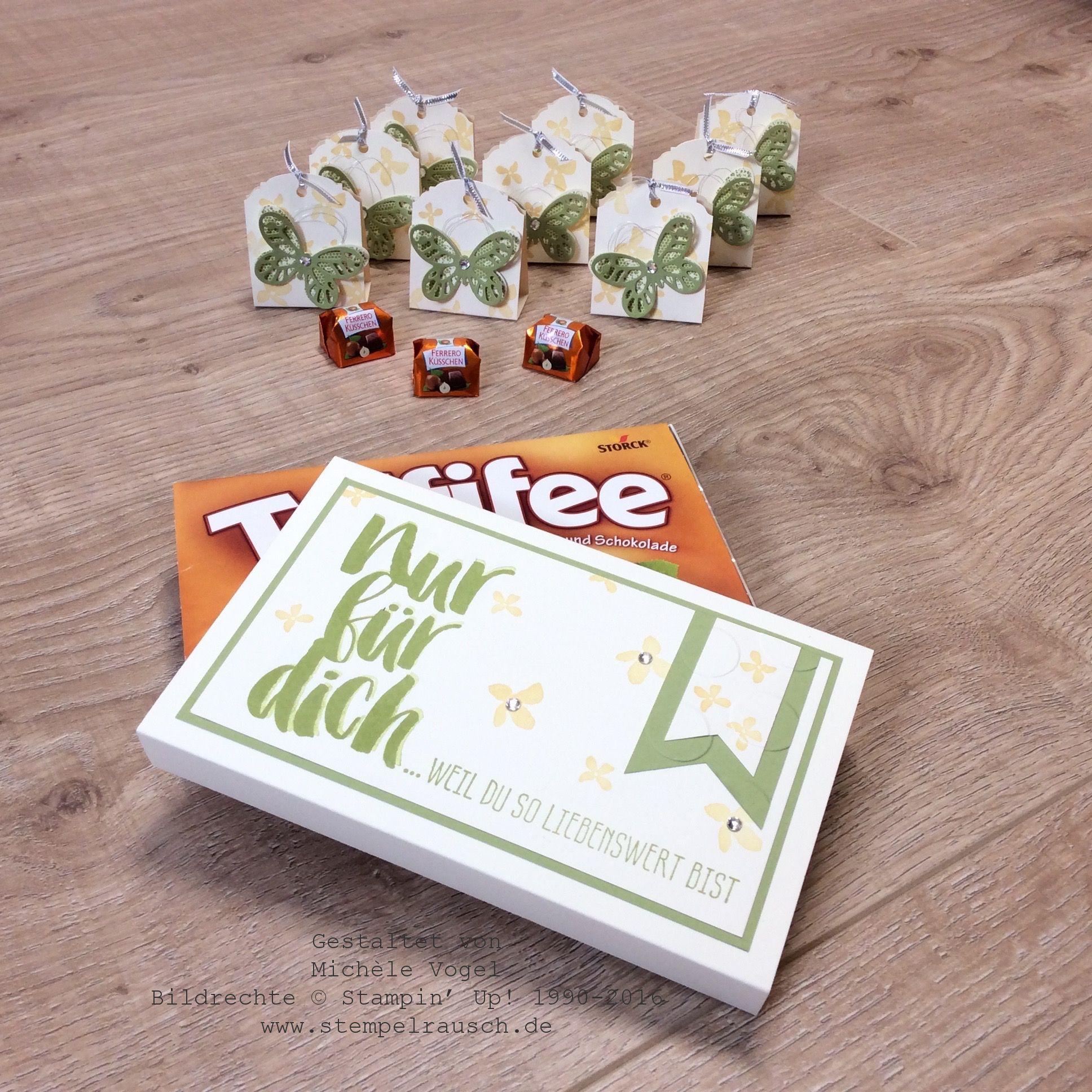 """Schokoladenverpackungen mit """"Blumen für dich"""""""