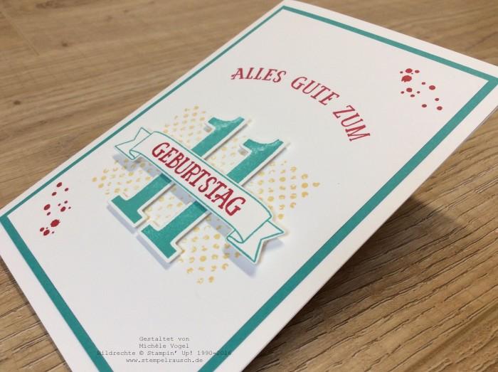 Stampin Up_Geburtstagskarte_11.Geburtstag_Stempelset_So viele Jahre_Timeless Textures_www.stempelrausch.de-