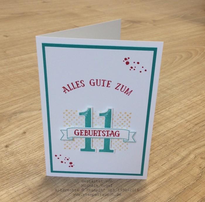 Stampin Up_Geburtstagskarte_11.Geburtstag_Stempelset_So viele Jahre_Timeless Textures_www.stempelrausch.de