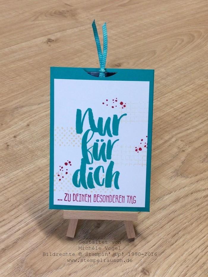 Stampin Up_Gutscheinverpackung zum 11. Geburtstag_Stempelset_Timeless Textures_Blumen fuer dich_stempelrausch.de