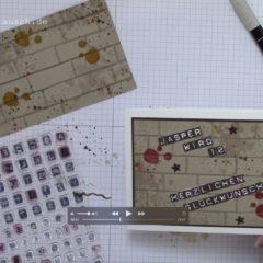 Video Anleitung: Karte mit Prägung Ziegel und Kuss-Technik