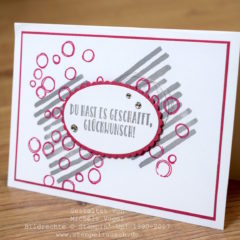 Glückwunschkarte mit Playful Backgrounds und Reihenweise Grüße