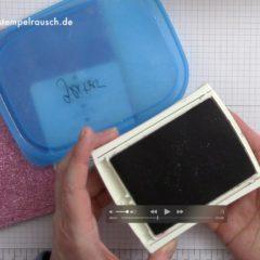 Stampin' Up! Video Anleitung: Glitzer aus dem Stempelkissen entfernen