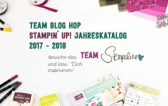 Team Blog Hop Banner Stampin Up Katalog 2017 2018