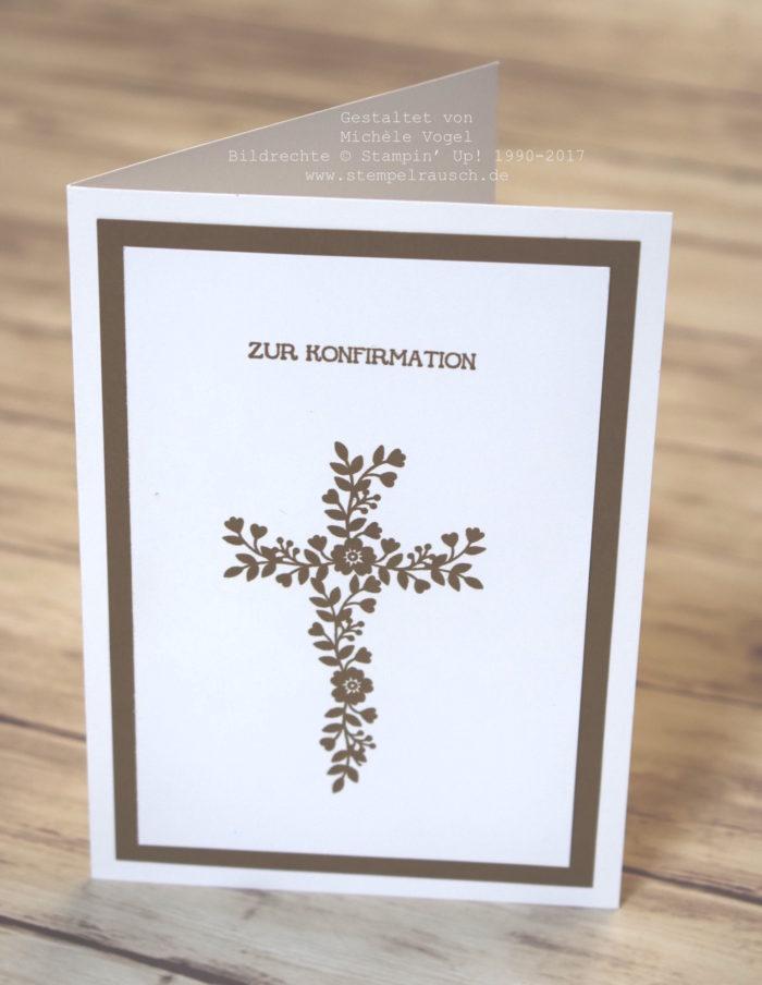 Konfirmationskarte für einen Jungen_Stempelset Eins für Alles und Blüten der Liebe_stempelrausch.de