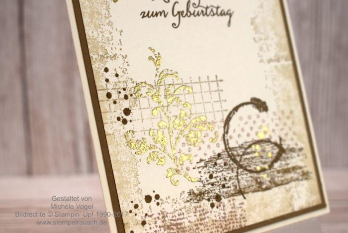 Geburtstagskarte Stampin' Up! Timeless Textures und Partyballons www.stempelrausch.de