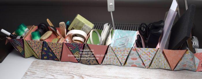 Tisch-Organizer, Origami Boxen - Aufbewahrung für den Schreibtisch www.stempelrausch.de
