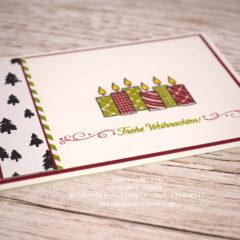 Weihnachtskarte mit Freude im Advent