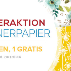 Sonderaktion Designerpapier im Oktober 2017: 3 kaufen, 1 gratis erhalten
