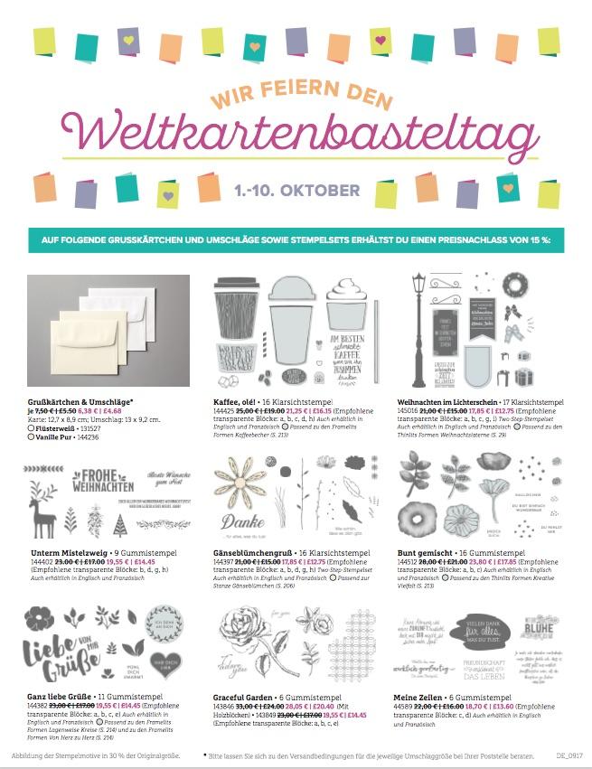 Angebote Weltkartenbasteltag 2017, Seite 1, www.stempelrausch.de