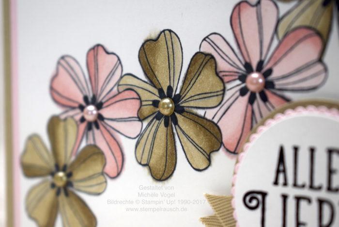 Grusskarte mit Stempelset Flower Shop und Alles Liebe Geburtstagskind, Stampin' Blends, Stampin' Up! www.stempelrausch.de