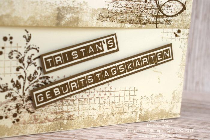 Kartenbox zum Aufbewahren von Karten mit dem Stempelset Timeless Textures und Labeler Alphabet von Stampin' Up! www.stempelrausch.de