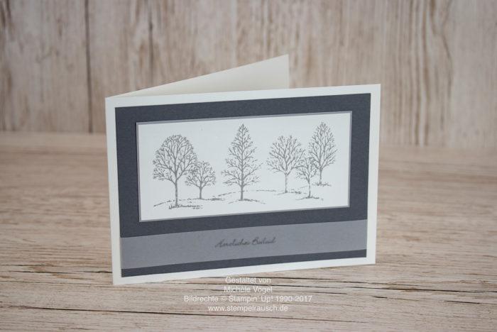 Trauerkarte mit den Stempelsets Lovely As a tree und Kleine Wünsche von Stampin' Up! www.stempelrausch.de