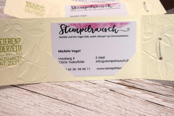 Visitenkartenhalter für eine Visitenkarte basteln mit dem Stempelset Kreiert mit Liebe von Stampin' Up! www.stempelrausch.de