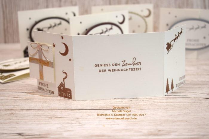 Gutscheinverpackung zu Weihnachten mit dem Stempelset Weihnachten daheim von Stampin' Up! in Flüsterweiß und Kupfer Rückseite www.stempelrausch.de