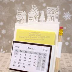 Video-Anleitung: Mini-Tischkalender mit Edgelits Winterstädtchen