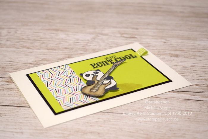 Cooler Pandabär mit dem Stempelset Party-Pandas und Echt cool aus der Sale-A-Bration 2018 von Stampin' Up! www.stempelrausch.de