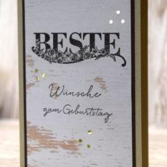 Geburtstagskarte für den Mann mit dem Stempelset Beste Wünsche aus der Sale-A-Bration