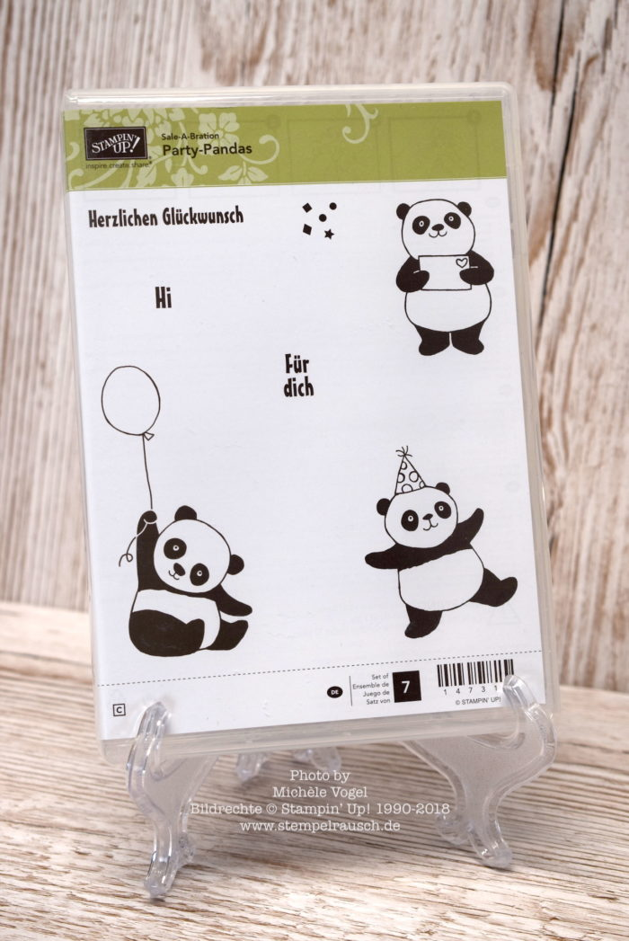 Stempelset Party-Pandas aus der Sale-A-Bration 2018 von Stampin' Up! www.stempelrausch.de