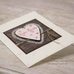 Liebe Grüße als Herzkarte verschicken