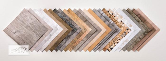 Designerpapier im Block Holzdekor Stampin' Up!
