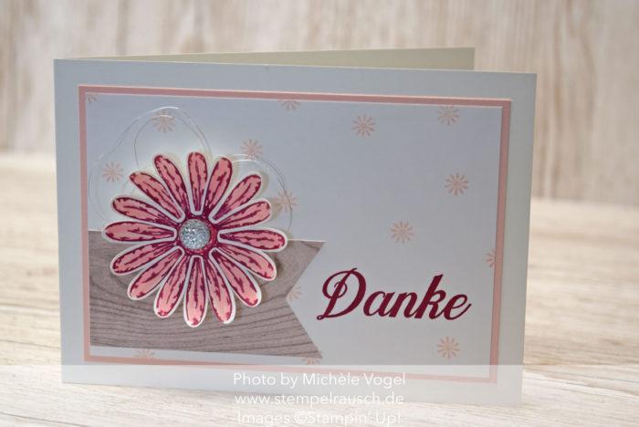 Dankeskarte mit dem Stempelset Gänseblümchengruß von Stampin' Up! www.stempelrausch.de