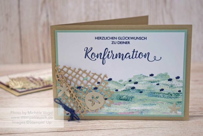 Maritime Konfirmationskarte Junge, Produktreihe Traum vom Meer, Stempelset Segensfeste_Stampin' Up! www.stempelrausch.de