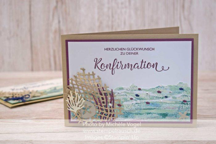 Maritime Konfirmationskarte Mädchen, Produktreihe Traum vom Meer, Stempelset Segensfeste_Stampin' Up! www.stempelrausch.de