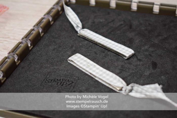 Stamparatus Magnete von Stampin' Up! umwickelt mit Geschenkband www.stempelrausch.de
